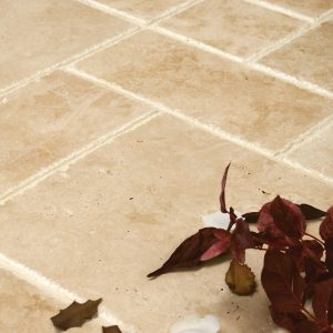 White Travertine Distressed Edge